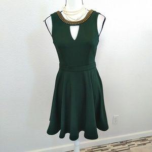 XOXO green midi dress size medium